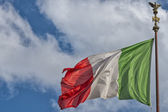 Italian flag of Italy green white and red — Stockfoto