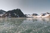 Svalbard Spitzbergen Glacier landscape — Stock Photo