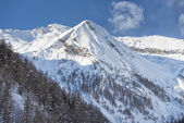 Italian mountain alps in winter — Foto Stock