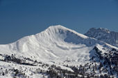 Dolomites huge panorama view in winter time — Stock Photo