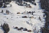 Badia Dolomites town aerial view — Stock Photo