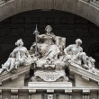 Justice inscription on Rome corte di cassazione palace — Stock Photo