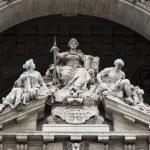 Justice inscription on Rome corte di cassazione palace — Stock Photo