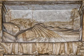 Medieval marble bas relief — Stock Photo