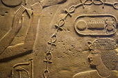 Egypt Hieroglyphics in valley of Kings — Stock Photo