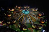Luna Park moving lights background — Stock Photo