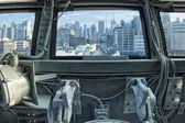 New york vista dalla cabina di pilotaggio aereo — Foto Stock