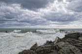 Sea Storm tempest on the rocks — Stock Photo