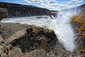Gulfoss waterfall in iceland — Stock Photo