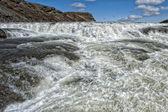 Gulfoss waterfall in iceland — Stock Photo