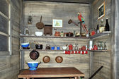 Old wooden ship pantry — Stock Photo