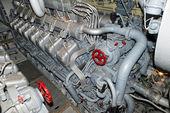 Submarine diesel engines — Stock Photo