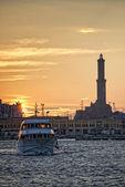 Lightouse Lanterna Genoa town Italy Symbol — Stock Photo