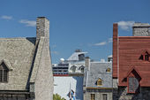 Quebec city roofs — Stock Photo