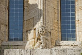 San quirico church detail — Stockfoto