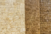 San quirico church wall stone background — Stock Photo