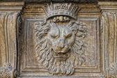 Palazzo pitti lejon — Stockfoto