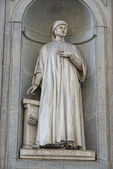 Florence uffizi statue Accorso — Stock Photo