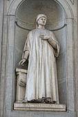 Florence uffizi statue Accorso — Stock Photo