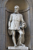 Florence uffizi statue Benvenuto Cellini — Stock Photo