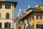 Florence Piazza della Signoria Statue — Stock Photo