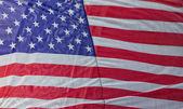 Amerikan bayrağı sallayarak — Stok fotoğraf