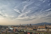 Florence sunset view — Stockfoto
