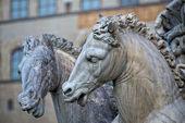 Plaza florencia della signoria estatua — Foto de Stock
