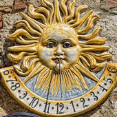 Ceramic sundial meridian — Stock Photo
