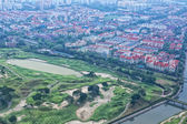 Singapore golf course aerial view — Stock Photo