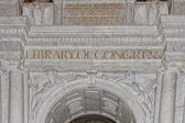 Library of congress sign — Foto de Stock