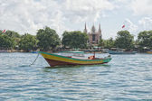 A church on indonesian fishermen village beach — Stock Photo