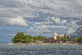 A church on indonesian fishermen village beach — Stock Photo