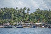 Indonesian fishermen village — Stock Photo