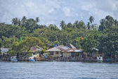 Indonesian fishermen village — Stock Photo