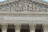 Washington DC Supreme Court facade — Stock Photo