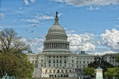 Washington DC Capitol view on cloudy sky — Stock Photo