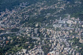 Genoa Italy aerial view — Stock Photo