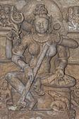 Sarasvati goddes sculpture — Stock Photo