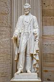 Lincoln statue inside Washington capitol dome internal view — Stock Photo