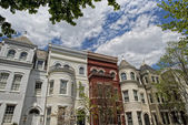 Georgetown dc washington houses — Stock Photo