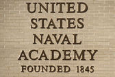 Annapolis united states naval academy sign — Stock Photo