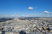 Paris huge aerial view from montmatre — Stock Photo