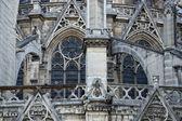 Notre dame paris statues and gargoyles  — Stock Photo