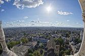 Paris huge aerial view from montmatre — Stock Photo