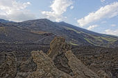 Etna volcano caldera — Stock Photo