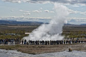 Geyser eruption in Iceland  — Stock Photo