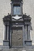 Chiesa di lava del villaggio siciliano pedara — Foto Stock