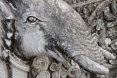 Detail of a sculpture elephant — Stock Photo