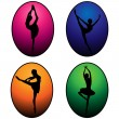 Ballet dancers silhouettes — Stock Vector #16848993
